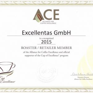 Excellentas ist Mitglied der Alliance for Coffee Excellence / exzellenter Kaffee / Specialty Coffee / Spezialitätenkaffe