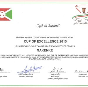 Cup of Excellence Gewinner Burundi 2015 - exzellenter Kaffee von EXCELLENTAS