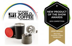 Cafflano Klassic Award Winner World of Coffee 2015, GOTHENBURG, SWEDEN