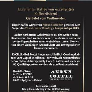 Audun Sørbotten - World Coffee Roasting Champion 2015 - Weltmeister im Kaffeerösten - Norwegian Roast
