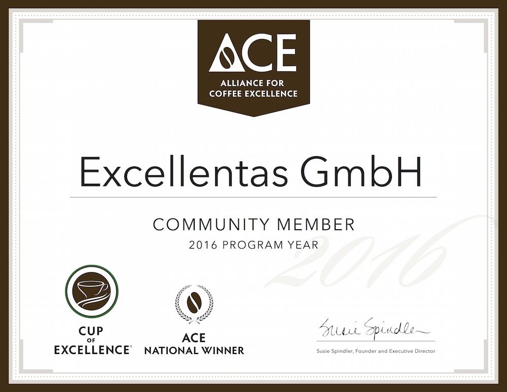 Excellentas ist Mitglied der Alliance for Coffee Excellence / exzellenter Kaffee / Specialty Coffee / Gourmet bester Kaffee