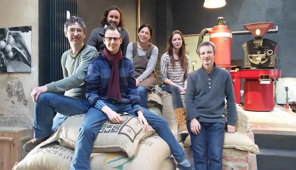 Thomas Brinkmann zweifacher Deutscher Röstmeister und Team Camolini Kaffeeschule Hannover