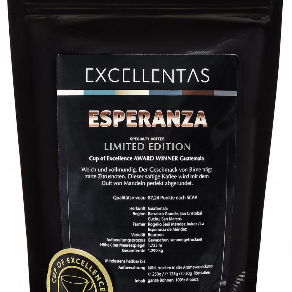 Roestmeister-Kaffee ESPERANZA Guatemala Cup of Excellence Gewinner Guatemala